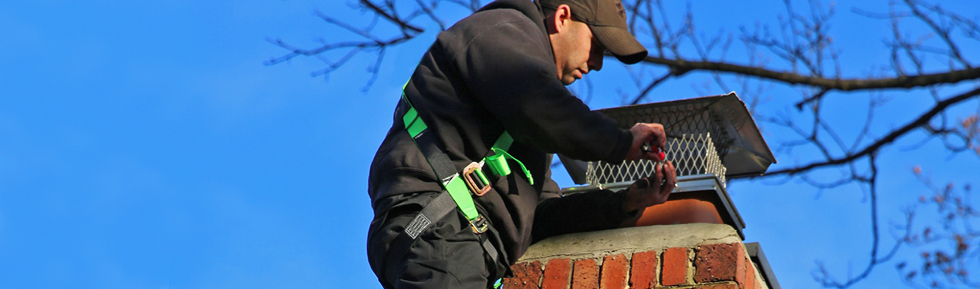 leaky chimney repair with chimney cap in gaithersburg md