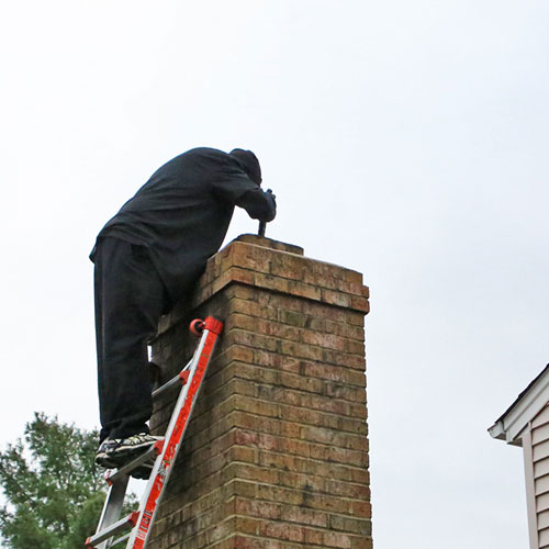 drafty chimney inspection in Glenwood MD