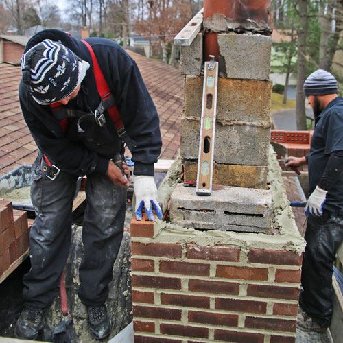 chimney masonry repair in Poolesville MD