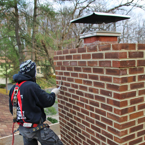 Chimney masonry repair in Olney MD