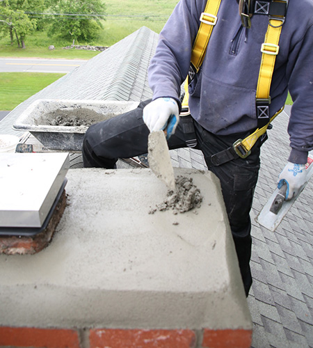 Chimney crown repair in Cloverly MD