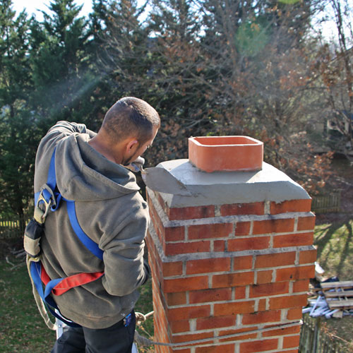 chimney crown repair in Travilah