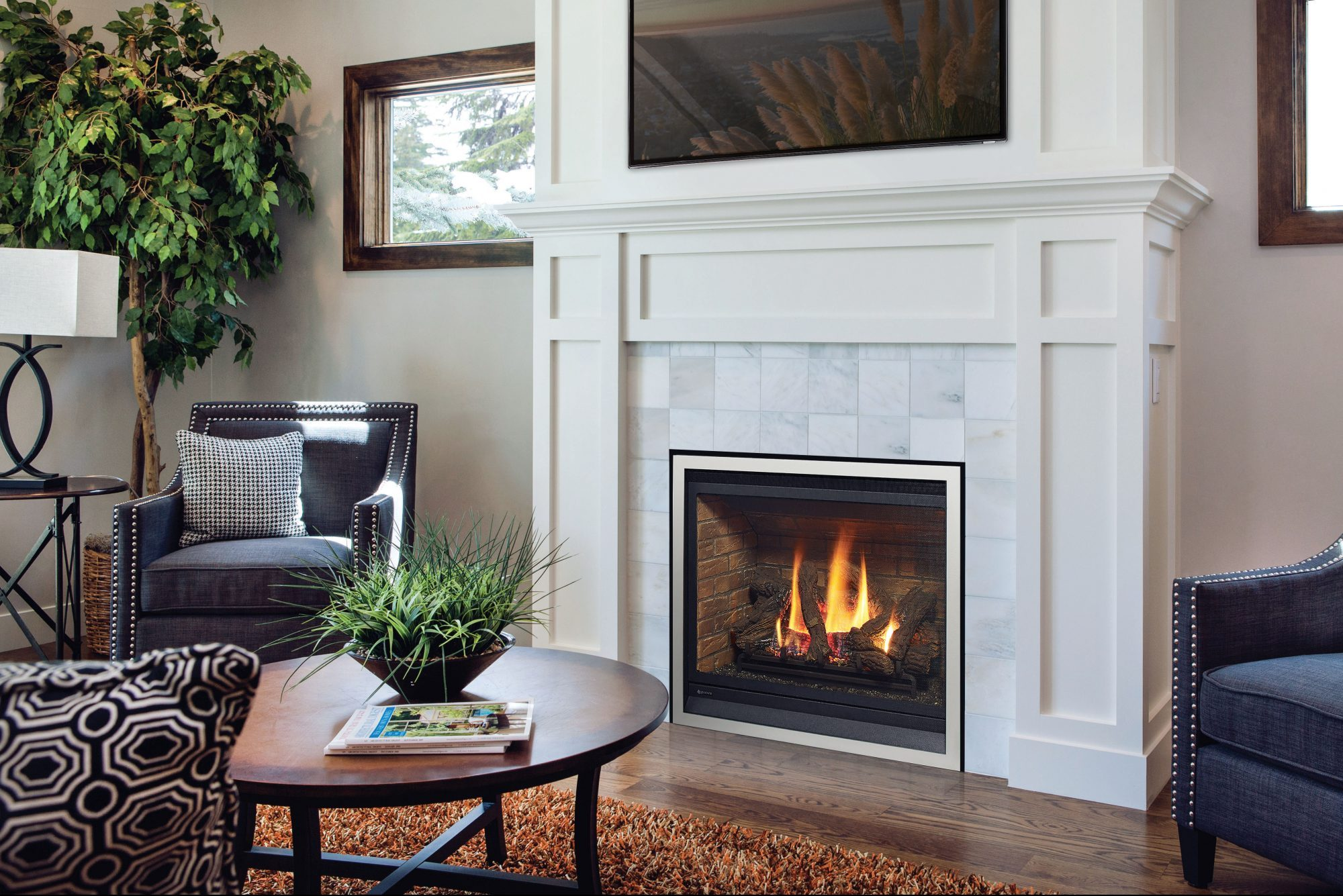 White Fire Place