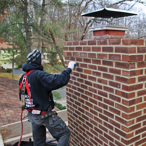 Chimney masonry repair in Frederick MD