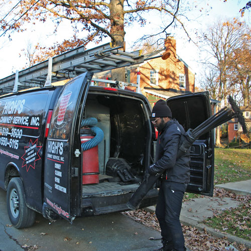 Chimney sweep in Columbia MD