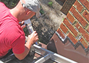 Chimney flashing repair in Poolesville MD