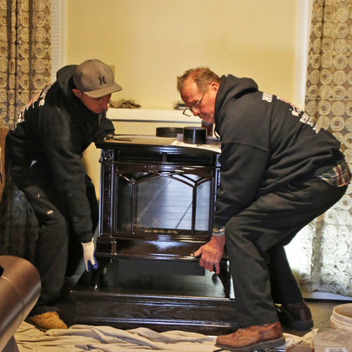 washington d.c wood burning stove install