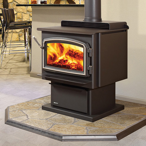 Wood burning stove in Bethesda Md