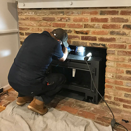 Fireplace insert install in bethesda md