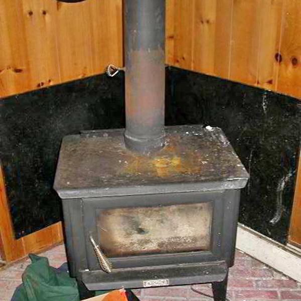 Damaged Wood Burning Stove in Fulton, MD