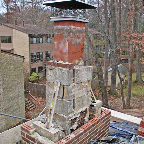 rockville md chimney rebuilding service