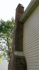 completed chimney in bricks
